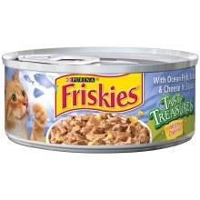 Cat Food - Friskies Tasty Treasures Ocean Fish Tuna & Cheddar 5.5 oz