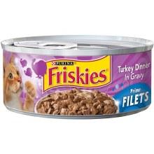 Cat Food - Friskies Prime Filets Turkey Dinner 5.5 oz