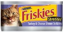 Cat Food - Friskies Shredded Turkey & Cheddar Dinner 5.5 oz
