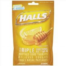 Cough - Halls Triple Honey Lemon 30 ct