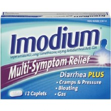 Gas Relief - Imodium Anti Diarrhea Plus Multi Sympton Caplets 12 ct