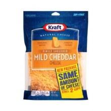 Cheese - Kraft Cheddar Finely Shredded 8 oz