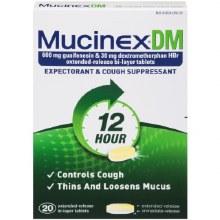 Cough - Mucinex DM 12 HR 20 ct