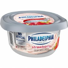 Cream Cheese - Philadelphia Strawberry Spread 7.5 oz