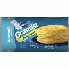 Dough - Pillsbury Grands Buttermilk Flaky Biscuits 16.3 oz