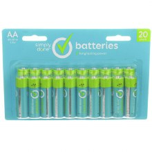 Batteries - Simply Done AA 20 ct
