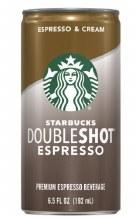 Coffee - Starbucks Double Shot Espresso & Cream 6.5 oz