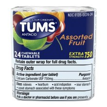 Antacid - Tums Chewable Assorted Fruit 24 tablets