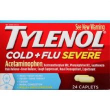 Cold & Flu - Tylenol Cold & Flu Severe Caplets 24 ct