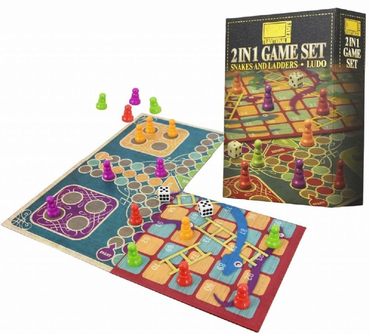 2 IN 1 SNAKES & LADDERS ,LUDO