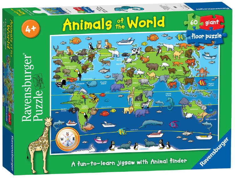 ANIMALS OF THE WORLD 60PCE