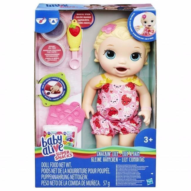 BABY ALIVE SNACKING LILY BLOND
