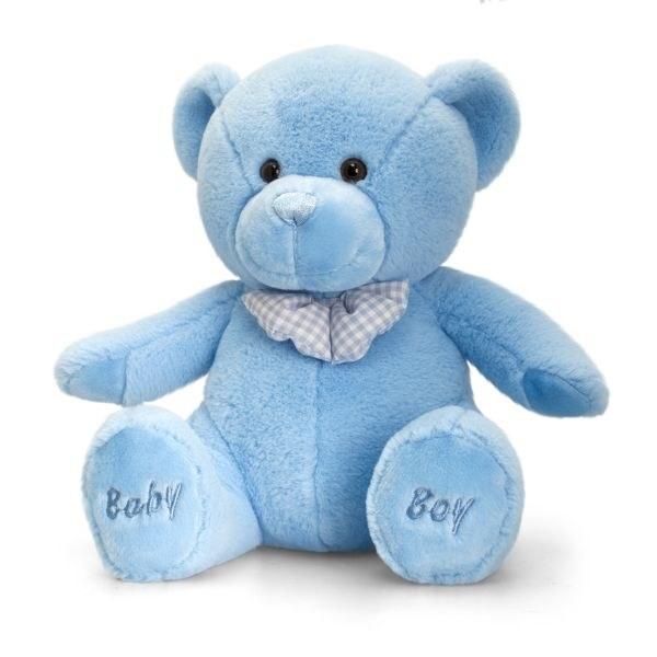 BABY BOY BEAR BLUE 35CM