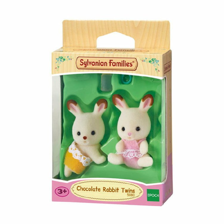 CHOCOLATE RABBIT TWINS SET