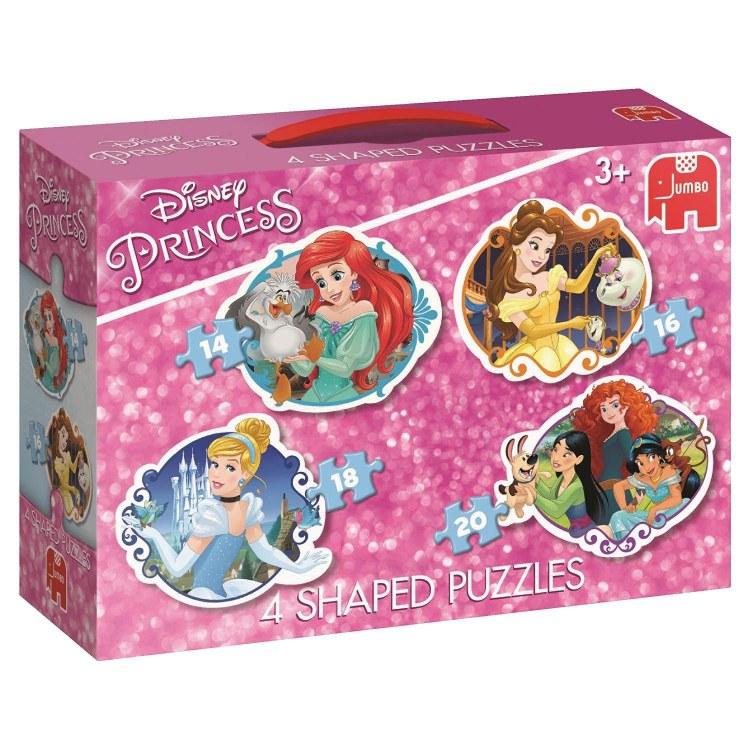 DISNEY PRINCESS  4 PUZZLES