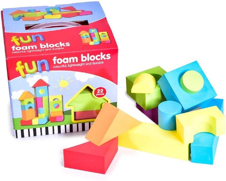 EVA FUN FOAM BLOCKS 22 PCE