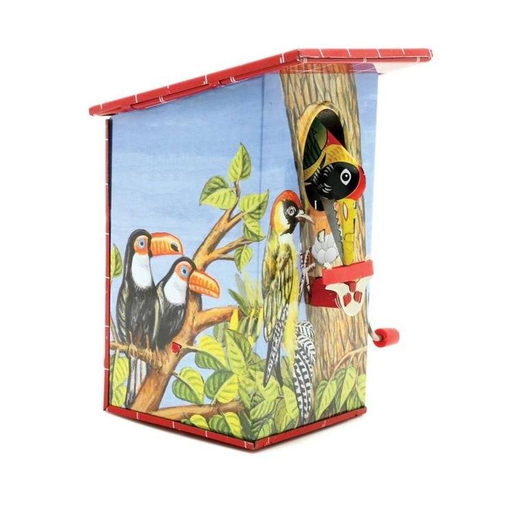 GREEDY BIRD TIN MONEY BOX