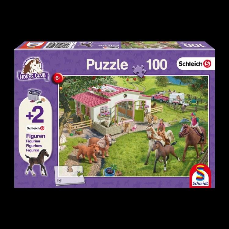 HORSE 100PC PUZZ & 2 SCHLEICH