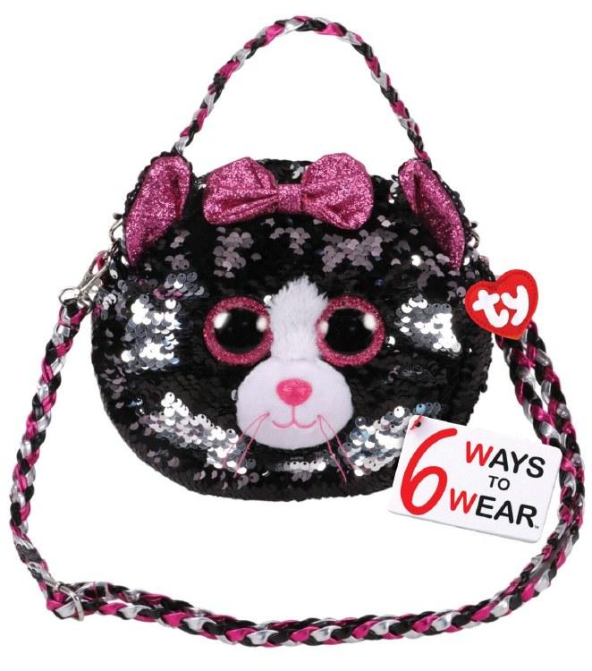 KIKI CAT SEQUIN SHOULDER BAG