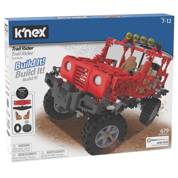 KNEX TRAIL RIDER RED JEEP R/C