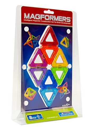 MAGFORMERS SET TRIANGLE 8 PCE