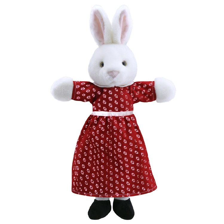 MRS RABBIT DRESSED PUPPET