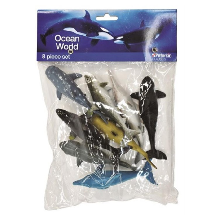 OCEAN WORLD ANIMALS 8PC