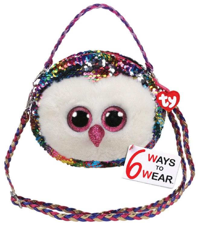 OWEN OWL SEQUIN SHOULDER BAG