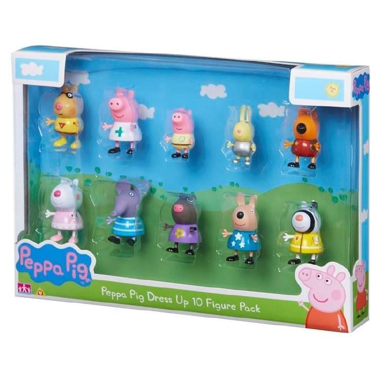 PEPPA PIG DRESS UP 10 FIG PK