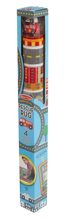 PLAYMAT RESCUE RUG WOODEN CARS