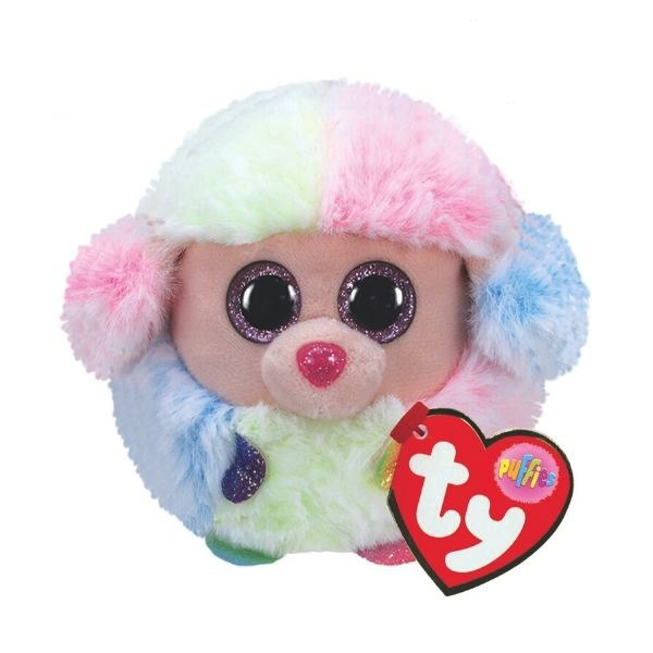 RAINBOW POODLE TY PUFFIES