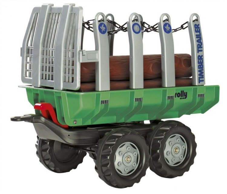 ROLLY TWIN AXLE TRAILER W/LOGS