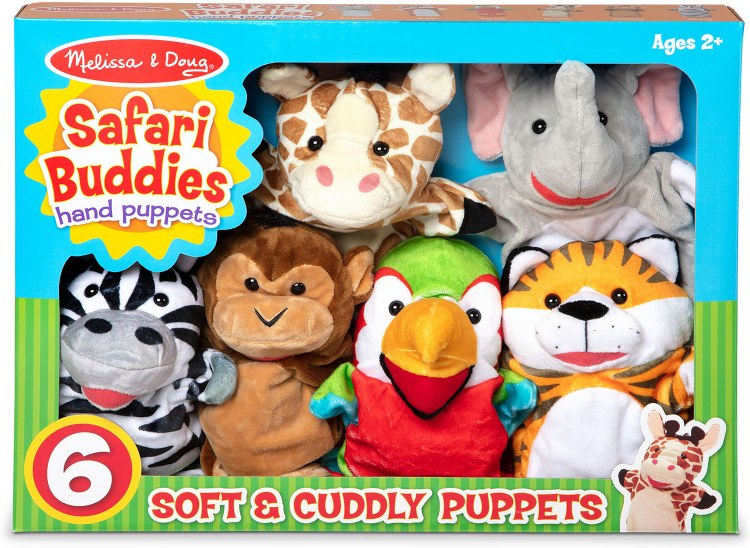 SAFARI FRIENDS HAND PUPPETS