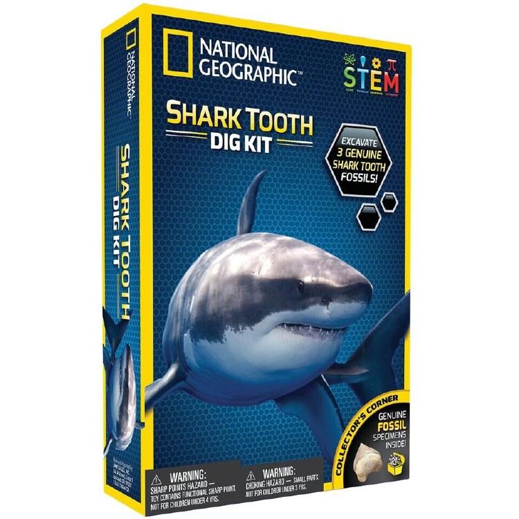 SHARK TOOTH DIG  KIT NAT GEO
