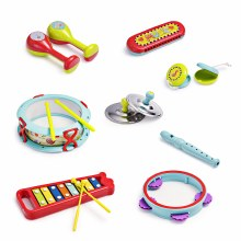 10 PIECE MUSICAL BAND SET