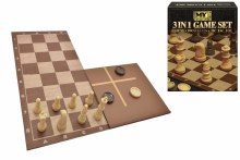 3 IN 1 CHESS/CHECKERS & TIC TA