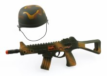 ARMY HELMET AND GUN