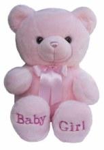 BABY GIRL BEAR PINK 35CM