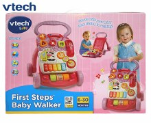 BABY WALKER FIRST STEPS PINK