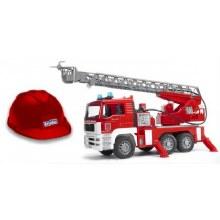 BRUDER MAN FIRE ENGINE W/ HELM