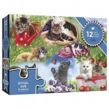 CATS 12PC PUZZLE