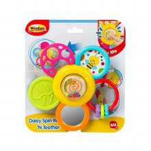DAISY SPIN RATTLE N TEETHER