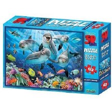 DOLPHIN 3D PUZZLE 63 PC