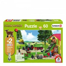 FARM 60PC & 2 SCHLEICH FIG