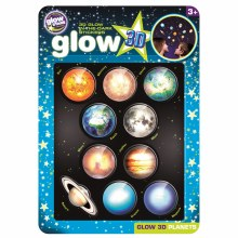 GLOW 3D FUNNY  PLANETS