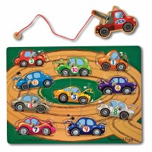 MAGNETIC WOODEN GAME TOW TRUCK
