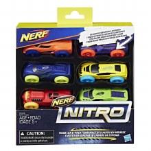 NERF NITRO FOAM CAR 6 PK