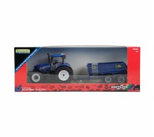 NEW HOLLAND T6 TRACTOR & TRAIL