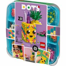 PINEAPPLE PENCIL POT LEGO DOTS