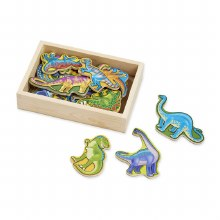 WOODEN MAGNETS DINOSAURS